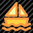 boat, sea, summer, vacation icon