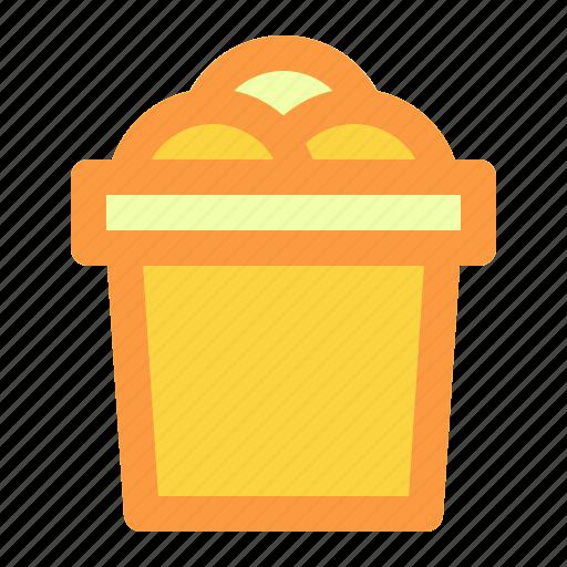 beach, bucket, summer, vacation icon