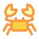 beach, crab, sea, summer, vacation icon