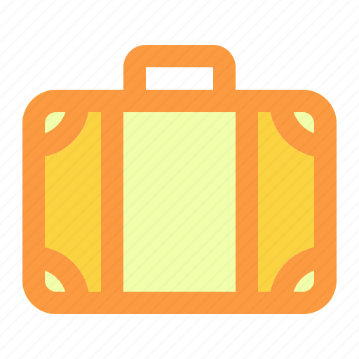 suitcase, summer, vacation icon