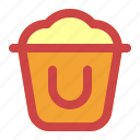 beach, bucket, holiday, sand, summer, vacation icon
