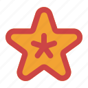 beach, holiday, sea, star, starfish, summer icon