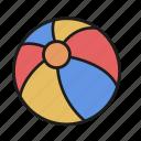 ball, beach, equipment, game, play, sport, summer icon