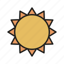 day, rays, summer, sun, sunny, weather icon