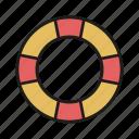 help, lifebuoy, ocean, sea, summer, water icon