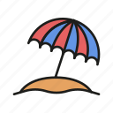 beach, holiday, parasol, summer, sun, umbrella, weather icon