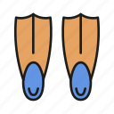 diving, flippers, pool, summer, swim, swimming, water icon