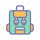 bag, beach, summer, vacation, weather icon