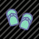 beach, sandals, summer, vacation, weather icon