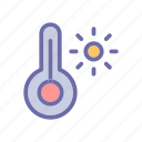 beach, summer, temperature, vacation, weather icon