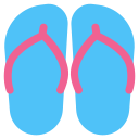 beach, flipflops, footwear, slippers, summer, vacation, wear icon