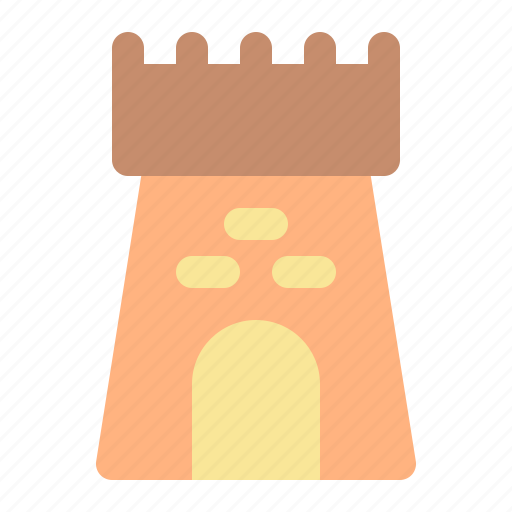 beach, castle, summer, vacation icon