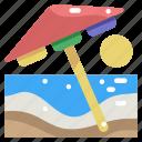 beach, holidays, nature, summer, sun, umbrella, vacations icon