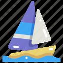 boat, holidays, sail, sailboat, sailing boat, sport, travel
