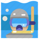 activity, diver, diving, scuba, sport, sporty, underwater icon