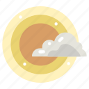 cloud, cloudy, meteorology, sky, sun, sunny, weather icon