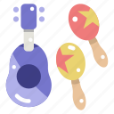 beach, guitar, music, musical instrument, orchestra, ukelele icon