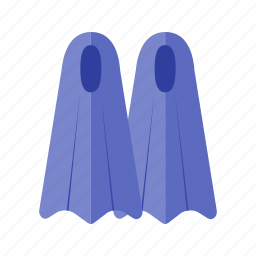 equipment, feet, fins, human fins, swim, swimming, water icon