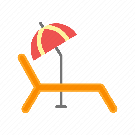 beach, chair, summer, sun, sun bathing, tanning, umbrella icon