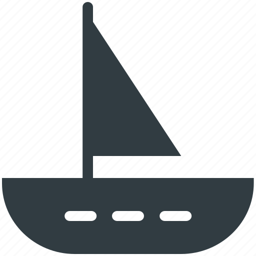 Boat, sailboat, sailing vessel, ship, yacht icon - Download on Iconfinder