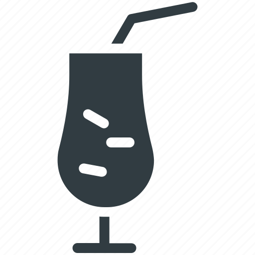 Cold drink, drink, ice cubes, juice, straw icon - Download on Iconfinder