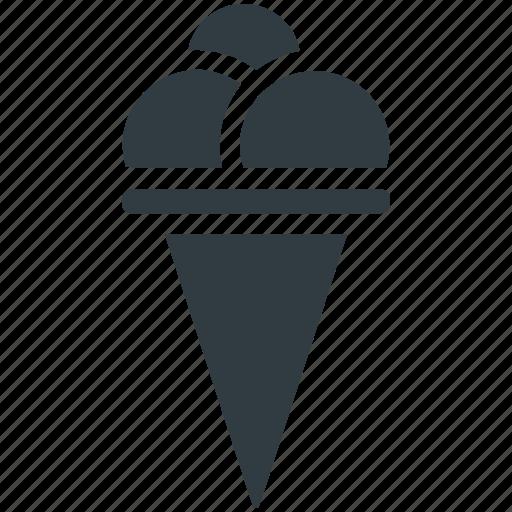 Dessert, frozen dessert, icecream, icecream scoops, sweet food icon - Download on Iconfinder