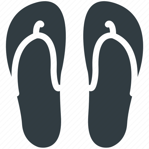 Beach sandal, flipflop, footwear, house slippers, pair of sandal, slippers icon - Download on Iconfinder