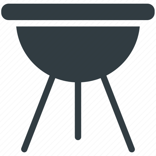 Bbq, charcoal grill, garden cooking, outdoor cooking, roasted food icon - Download on Iconfinder