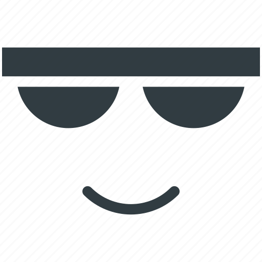 Cartoon character, cool, glasses, smile, sun icon - Download on Iconfinder