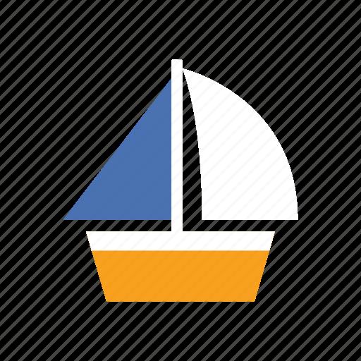boat, marine, navy, sail, ship, summer, transportation icon