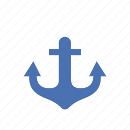 anchor, marine, maritime, nautical, navy, ship, summer icon