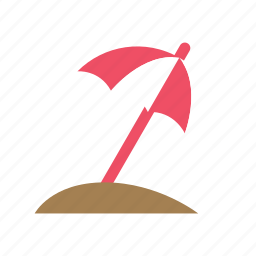 beach, holiday, hot, parasol, summer, sunny, umbrella icon