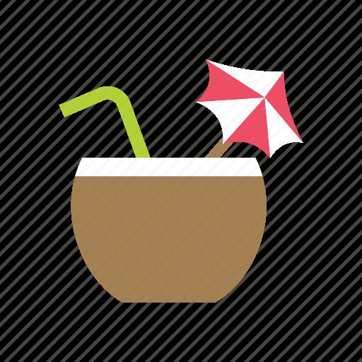 beverage, cocktail, coconut, drink, juice, milk, summer icon