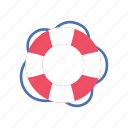 drown, lifebuoy, lifeguard, ocean, protection, rescue, summer icon
