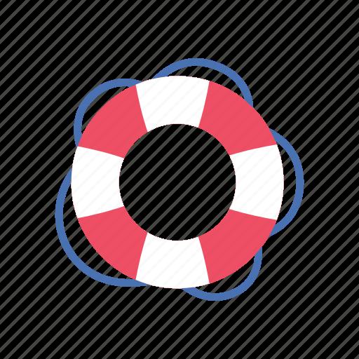drown, lifebuoy, lifeguard, ocean, protection, rescue, summer icon