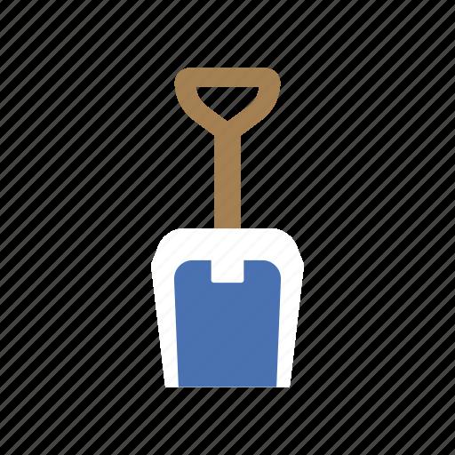 construction, dig, garden, sand, shovel, spade, summer icon