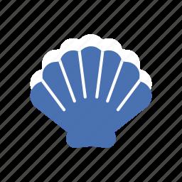 animal, ocean, scallop, sea, shell, shellfish, summer icon