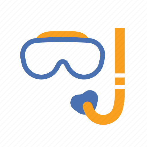 glasses, googles, ocean, scuba, snorkel, summer, swim icon