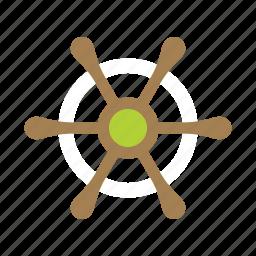 boat, marine, navy, ship, steer, summer, wheel icon