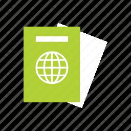 citizenship, document, passport, summer, tourist, travel, vacation icon