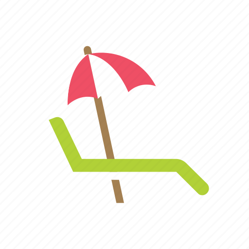 beach, daybed, holiday, lounge, summer, sunbed, vacation icon