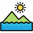 mount, nature, peak, tourism, travel, mountain, sun