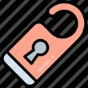 door, hotel, label, tag, hanger, do not disturb, doorknob