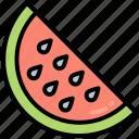 food, fruits, watermelon, slice, summer, vacation, water