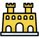 building, castle, fort, tower, history, landmark, tourism