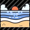 beach, beautiful, ocean, sea, sky, summer, water icon