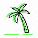 beach, coconut tree, enjoy, holiday, sea, summer, travel, vacation icon