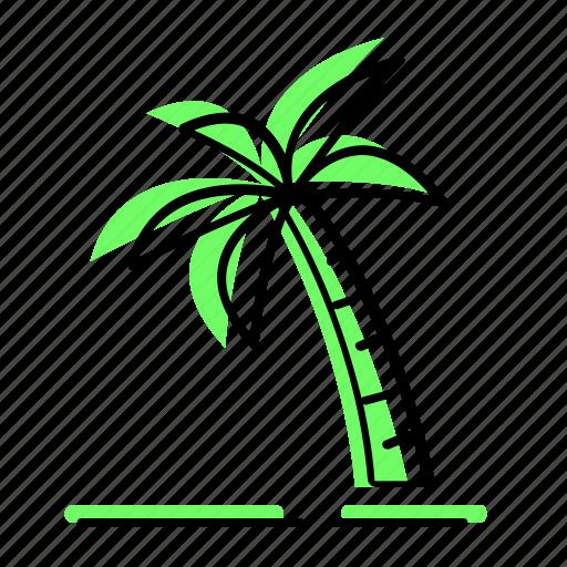 beach, coconut tree, enjoy, holiday, sea, summer, travel, vacation icon