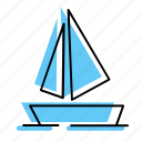 beach, boat, holiday, sea, ship, summer, travel, vacation icon