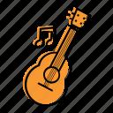 beach, guitar, holiday, music, sea, string, summer, travel, ukulele, vacation